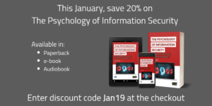 This January save 20% on The Psychology of Information Security with discount code Jan19